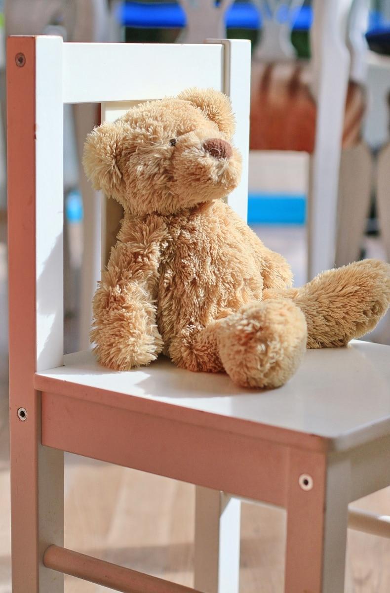 De knuffelbeer en de tandartsstoel